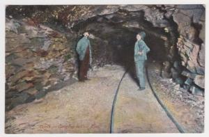 Gangway in Coal Mine Souvenir Post Card Co. Pennsylvania Mining Postcard A34