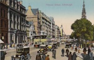 Scotland Edinburgh Trolleys and Old Cars On Princes Street
