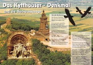 Das Kyffhaeuser Denkmal und die Barbarossasage Monument Statue