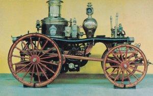 Victorian Steam Fire Engine 1870 Canada Train Museum Postcard