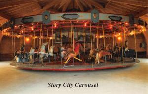 Story City Iowa Carousel Amusement Vintage Postcard K103941