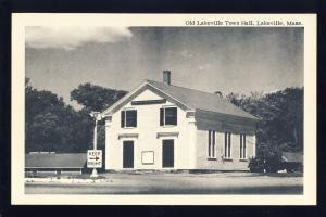 Lakeville, Massachusetts/MA/Mass Postcard, Old Lakeville Town Hall