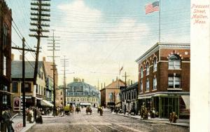 MA - Malden. Peasant Street circa 1900