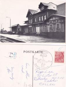 Sassnitz Trelleborg Denmark Train Station 2x Real Photo Postcard