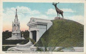 NEW ORLEANS, Louisiana, 1900-10s; Elk's Mausoleum, Greenwood Cemetery