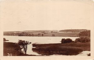 G56/ Silver Lake New York RPPC Postcard Head of Outlet c1920s