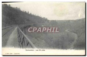 Postcard Old Eymoutiers The 24 batteries