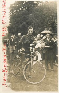 Pedale Sion - Lausanne - Sion 1932 swiss cyclist champion Buchi Albert bicycle