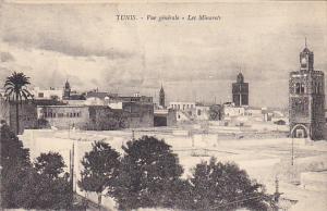 Tunisia Tunis Vue generale Les Minarets