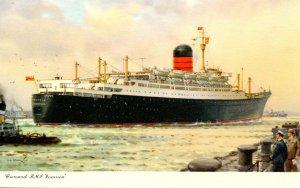 Cunard Line - RMS   Ivernia   Artist: Turner