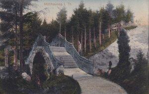 MUEHLHAUSEN, Thuringia, Germany, PU-1912; Partie Im Stadtpark Hei Der Fussweg...