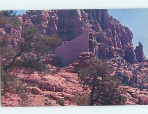Pre-1980 CHURCH SCENE Sedona - Near Flagstaff Arizona AZ A8834