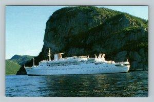 Veracruz, Panama Registry Cruise Ship, Chrome Postcard