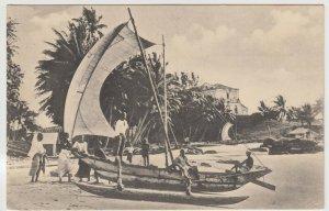 Sri Lanka / Ceylon; Outrigger Fishing Canoes, Mt Lavinia PPC By Plate, Unused