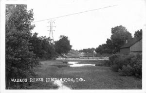 1950s Huntington Indiana Wabash River RPPC real photo postcard 12527