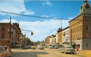 C29/ Coldwater Michigan Mi Postcard Chrome West Chicago St from Monroe Stores 3