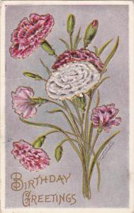 Fred Lounsbury Birthday Greetings Carnations 1909