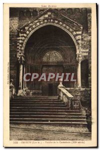 Postcard Old Embrun Porch of the Cathedral