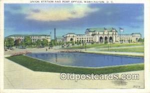 Union Station, Washington DC, District of Columbia, USA Depot Postcard, Railr...