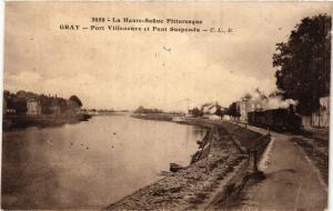 CPA La Haute-SAONE Pittoresque GRAY Port Villneuve et Pont Suspendu (452322)