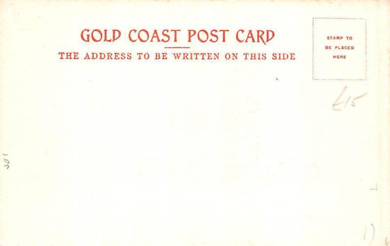 Ghana Gold Coast Accra horse races postcard