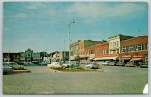 Chillicothe MO Brick Street~Island Parking~Anderson's, Woolworth's, Ben Franklin