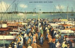 Fishing Docks Miami FL 1944