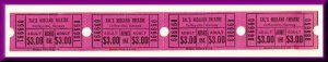 Four Tal's Midland Theatre Movie Tickets, Coffeyville, Kansas/KS, 1970&#...