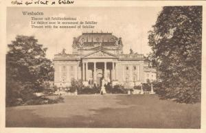 Germany Wiesbaden Theater mit Schiller Denkmal 02.63