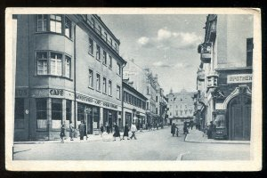 dc240 - BAD KISSINGEN Germany 1920s Ludwigstrasse, Cafe. Apotheke