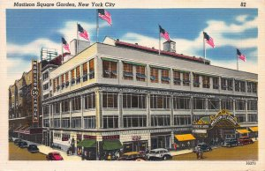 Madison Square Garden, New York City, Early Linen Postcard, Unused