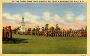 NC - Fort Bragg. Artillery Troops Passing in Review