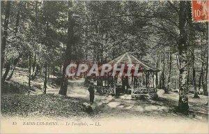 Postcard Old Bains Les Bains Umbrella