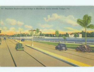 Unused Linen BRIDGE SCENE Tampa Florida FL HQ9973