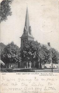 E53/ Seville Ohio Postcard Medina County First Baptist Church