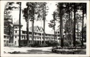 Lake Spofford NH Club Hotel Real Photo Postcard
