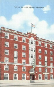 Vintage Linen c1930-45 USA Postcard YMCA Building DENVER Colorado 39Z