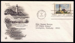 1970 US Sc #1391 FDC Maine Statehood Excellent Condition.