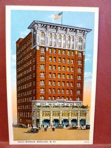 Postcard WV Wheeling Hotel Windsor