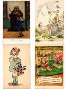 CHILDREN ENFANTS MOSTLY DRAWN ARTIST SIGNED ILLUSTRATEUR 1500 CPA