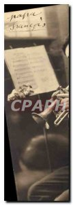 Postcard Old Man Trumpet