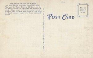 HOLLAND, Michigan, 1930-40s; Scrubbing up Street, Tulip Time, Old Dutch Custom