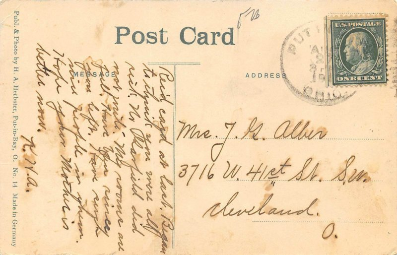 LP08    Put In Bay Ohio Postcard Herbster Publisher
