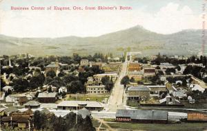 Eugene Oregon~Downtown @ Skinner's Butte~Borax Billboard~Depot Water Tank~1910