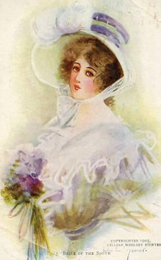 Belle of the South        Artist Signed: Lillian Woolsey Hunter