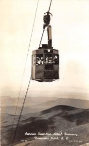 Franconia Notch New Hampshire~Cannon Mountain Aerial Tramway~People Posing~RPPC