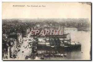 Old Postcard Marseille general view of the Port