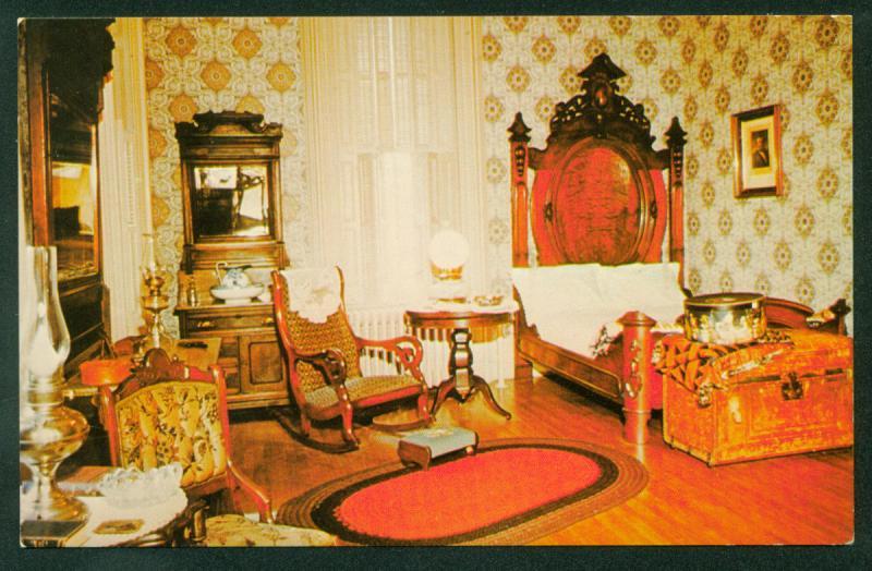 Magnolia Manor Cairo IL President Ulysses S Grant Bedroom Civil War Postcard