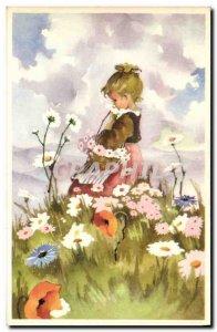 Old Postcard Fantasy Illustrator Child