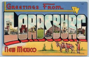 Postcard NM Large Letter Greetings From Lordsburg New Mexico Vintage Linen P3